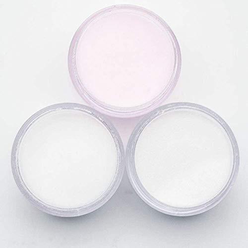 HYLH 3 Couleurs Poudre Acrylique Cristal Nail Art Polymère Conseils Builder Rose Blanc Clair Poudre Acrylique pour Ongles Manucure Outils