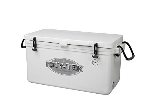 Icey-tek - Nevera portátil (70 litros, Larga duración, hasta 10 días), Blanco, 70 Litre