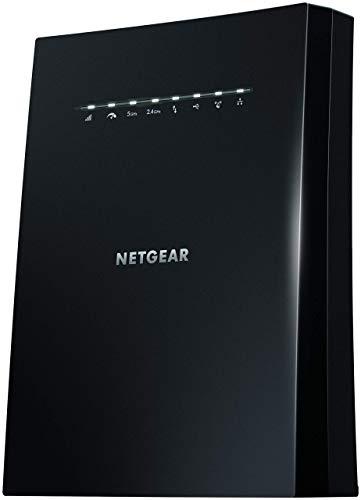 NETGEAR Ripetitore WiFi Mesh AC3000 EX8000, WiFi Extender Tri-Band, 4 porte Lan, Ripetitore WiFi wireless compatibile con modem Fibra e ADSL