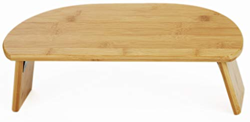 Green Eos Bamboo Ergonomic Folding Meditation Bench - Seiza Bench - Ideal for Vipassana and Transcendental Meditation