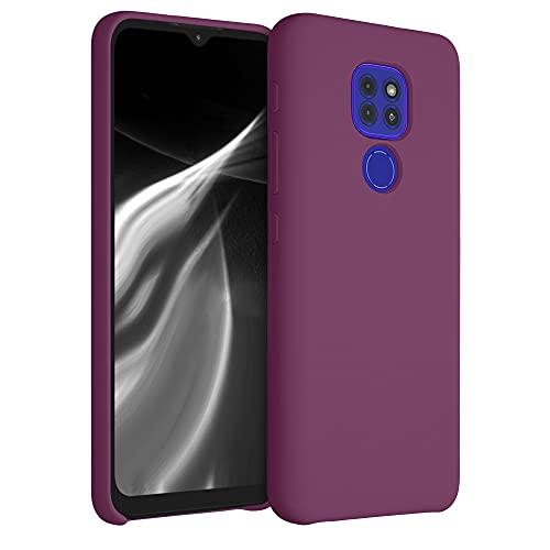 kwmobile Funda Compatible con Motorola Moto G9 Play/Moto E7 Plus - Carcasa de TPU para móvil - Cover Trasero en Magenta Oscuro