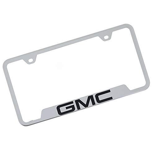 GMC - Marco para matrícula con grabado láser (cromo)