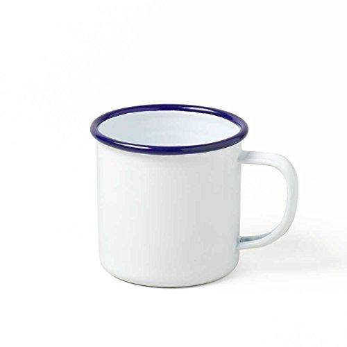 Genuine Falcon Enamelware Mug (Classic White with Blue Rim)