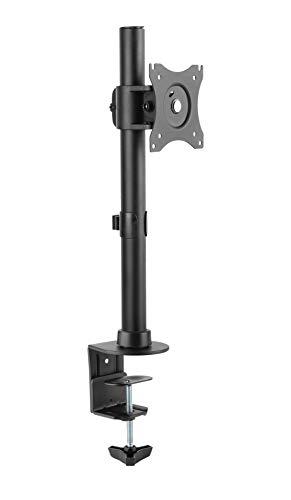 RICOO Monitor-Tisch-Halterung, Schwenkbar Neigbar (TS7011) Universal für 13-27 Zoll (bis 10-Kg, Max-VESA 100x100) Bildschirm-Ständer Drehbar Höhenverstellbar Schreibtisch Stand-Fuss