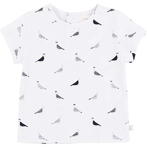 CARREMENT BEAU T-Shirt à Manches Courtes Bebe Couche Blanc 12MOIS