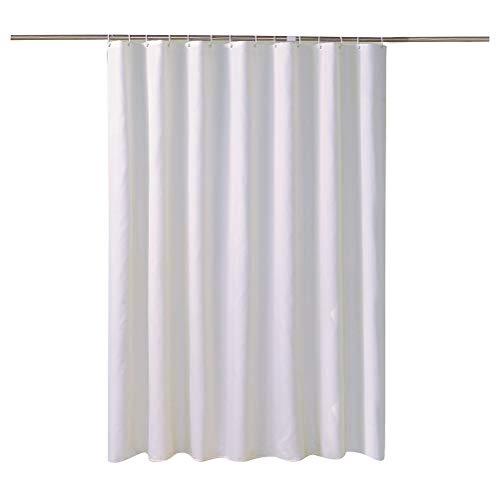 YliJkeT Duschvorhang, Reinweiß Verdickter Undurchlässiger Stoff Plain Polyester Hotel Wasserdichter Duschvorhang (Farbe : 220 * 200)