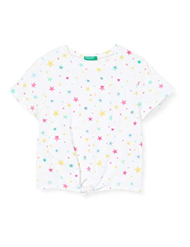 United Colors of Benetton Mädchen T-Shirt Pullunder, Weiß (Faded Denim 69a), 128 (Herstellergröße: Medium)