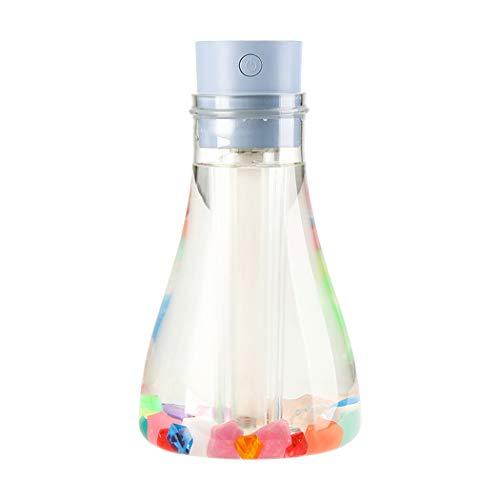 JGRR Botella Creativa Deseando humidificador portátil USB Mini Humidificador de purificación de Aire de Gran Capacidad de los hogares Tabla humidificador,Azul