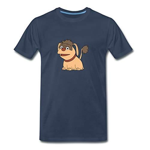 Sandmännchen Und Seine Freunde Hund Moppi Männer Premium T-Shirt, XL, Navy