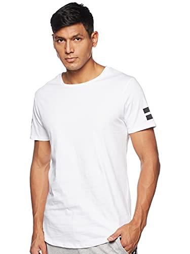 JACK & JONES JCOBORO TEE SS CREW NECK, Camiseta Hombre, Blanco (White), Small
