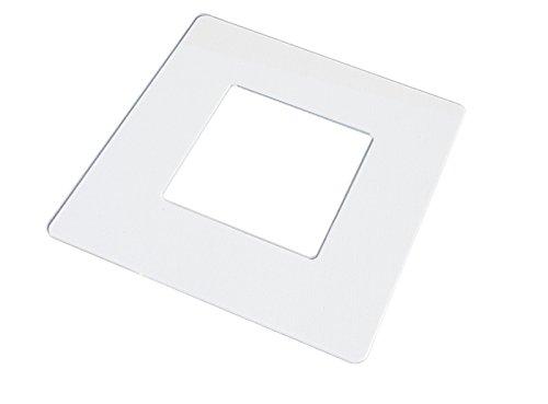 kekef Acrylglas Dekorrahmen brillant glasklar groß 1-fach 2-fach 3-fach 4-fach, brillante Oberfläche, Tapetenschutz Wandschutz für Lichtschalter und Steckdosen (brillant 1-fach)