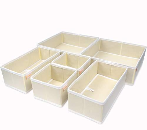 ZWELLAA - Separadores de cajones de tela para cajones y cajones (6 unidades)