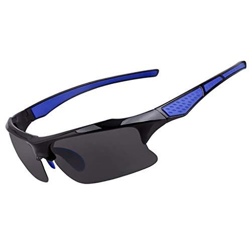 ZXTYJ Hombre en Gafas de Sol polarizadas Gafas Deportivas de Ciclismo Pesca Golf Marco Superlight (Color : B)