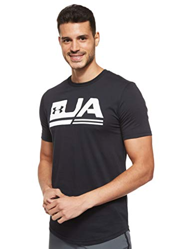 Under Armour UA Sportstyle SS Drop Hem Camiseta, Hombre, Negro (Black/White 001),...