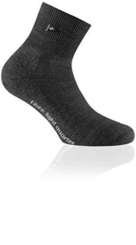Rohner Fibre Light Quarter Schwarz, Merino Socken, Größe EU 36-38 - Farbe Schwarz Denim