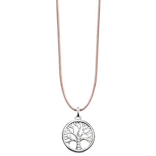 Thomas Sabo Damen-Kette Choker Tree of Love  925 Sterling Silber beige LSKE012-401-19-L80v