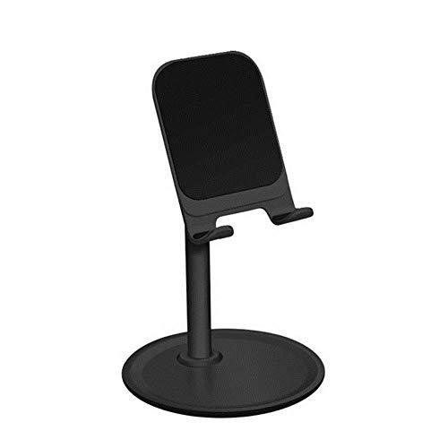 FEICHAIQAZ Telefonhalterung für Tablet-Handy Schreibtisch Desktop-Halterung Ständer Halter Universal Einstellbare Aluminium Anti-Rutsch und Anti-Kratzer, Schwarz