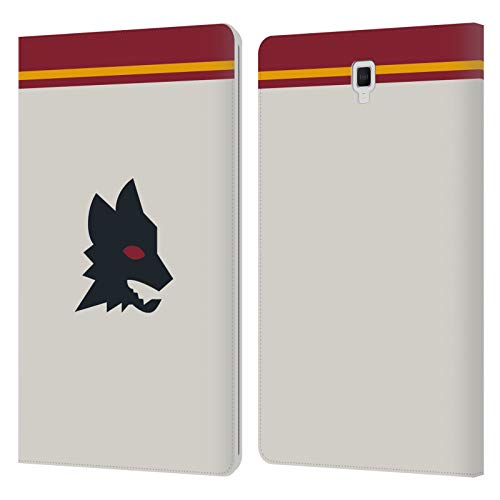 Official AS Roma Away 2020/21 Crest Kit Leather Book Wallet Case Cover Compatible For Galaxy Tab S4 10.5 (2018)
