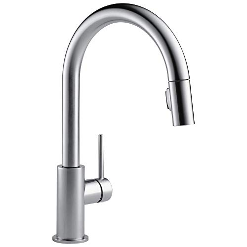 Delta Faucet 9159-ARLS-DST Trinsic Single Handle Kitchen Swivel Pull-Down, Arctic Stainless