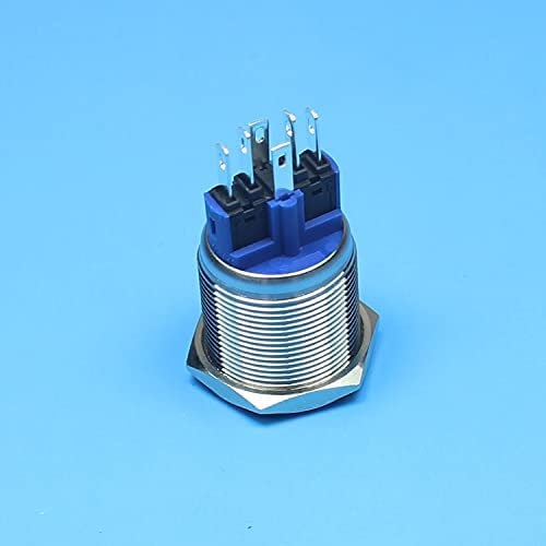 Flat Round Special sale item Max 57% OFF Head 22mm 1NO 1NC Latching Ring Bu Lamp Type LED Push