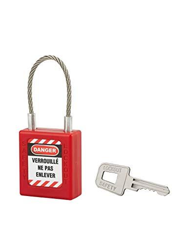 Thirard – slot 40 mm staalkabel Ø 3 x 90-1 sleutel