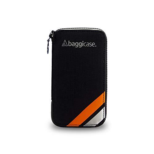 Baggicase M Naranja (15x7,9cm). La Funda Impermeable para el móvil y Las pertenencias del Ciclista. Disponible en Tres Tallas S (14x7,6cm), M (15x7,9cm) y XL (16,3x8,5cm) y 8 Colores.