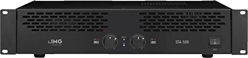 IMG STAGELINE STA-500 Stereo 2-Kanal PA-Verstärker in Schwarz, PA-Amplifier mit 400-Watt Leistung und Klinken-Anschluss