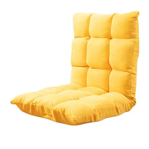 TXXM Lazy Sofa Freizeit Faltbarer Einzellehner Schlafsaal Schlafzimmer Bett Computer Stuhl (Farbe: gelb)