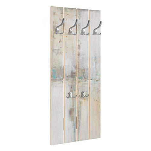 Bilderwelten Perchero de Madera Essence I   Ganchos cromados 100x40 cm