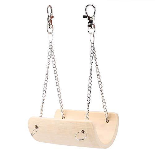 Haustier Bambus Hängen Hamster Schaukel Spaß Spielzeug Mit Glocke Hamster Rennmaus Ratte Kleine Papagei Spielzeug Mini Hängebrücke Hamster Käfig Bett Zubehör Geschenk Hängen Stehen Spielplatz