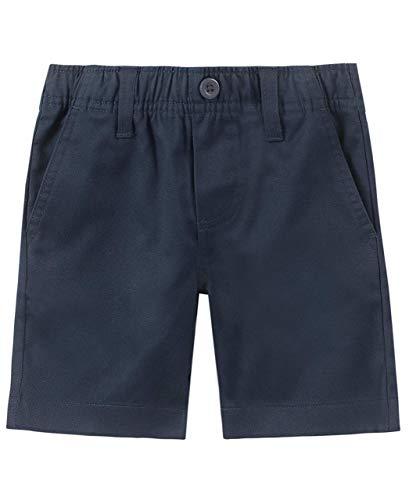 Nautica Boys' Toddler School Uniform Flat Front Twill Short, Navy/Pull-on, 4T