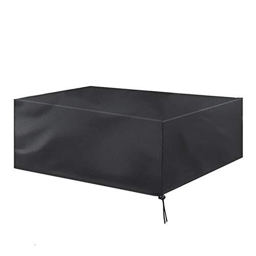 AWSAD Cubierta al Aire Libre de los Muebles, Cubiertas determinadas de la Silla de Mesa al Aire Libre Impermeable a Prueba de Viento (Color : Negro, Size : 180x135x90cm)