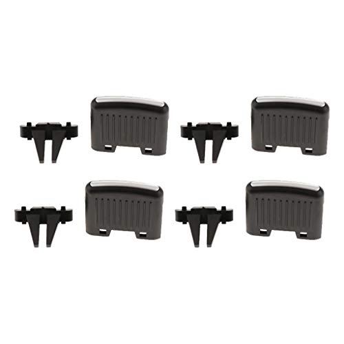 perfk Pack of 4 Front Row Fresh Air Grille Clips Air Conditioning Vent Outlet Tab Clip for VW Sagitar