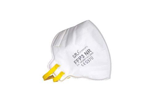 LVTU FFP3 Maske CE 0370 Zertifizier Partikelfiltration ≥ 99% Entspricht EN 149: 2001 + A1: 2009 (Einzelverpackung / 25 Stück) Atemschutzmasken