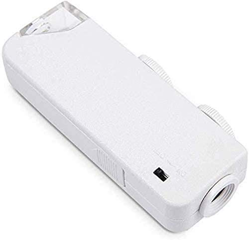 JJDSN Lámpara de Aumento 160-200X K Lupa Miniatura Ajustable para Leer apreciación de joyería |Lupa de Lente óptica con lupas Ligeras para Herramientas de Hobby