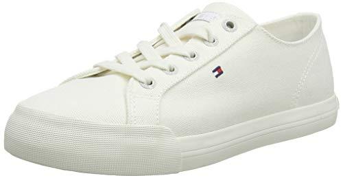 Tommy Hilfiger Damen Pastel Tommy Essential Sneaker, Weiß (Whisper White 121), 38 EU