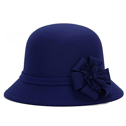 LSY Sombreros De Mujer Sombrero De Cubo Gorra De Flores Otoño Invierno Sombrero De Fieltro Rose-05