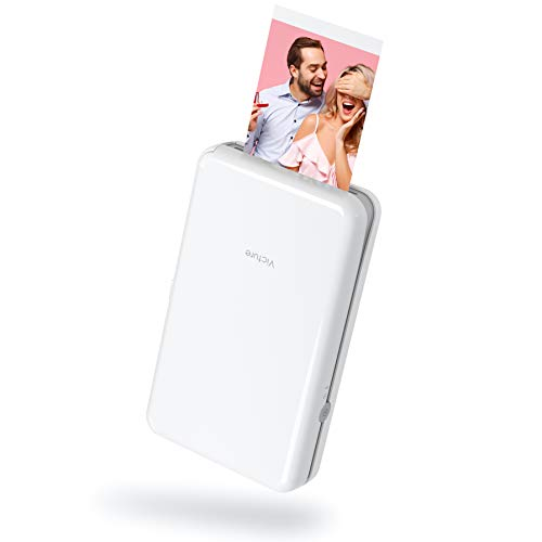 """Victure 2x3"""" Portable Photo Printer Bluetooth Connection Wireless Rechargeable Including 8 Pieces of Photo Paper Android/iOS/Tablet Devices Compatible 4 Pass Technology"""
