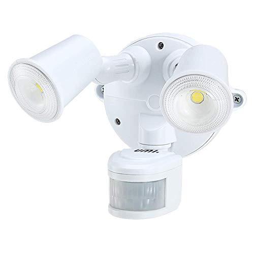 Umi. by Amazon 2000lm Leuchte mit Bewegungssensor, verstellbarer Kopf, Beleuchtung für Hof, Garage, Veranda, wasserdicht