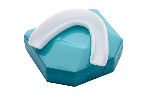 2 x Férula Dental Placa de Descarga Nocturna Protector Bucal para dormir, contro Bruxismo Rechinar los dientes y los Trastornos del ATM