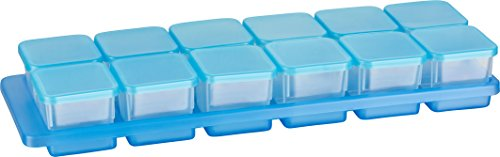 Kigima Mini-Tiefkühldose 0,03l rechteckig 3,5x3,5x3,3 cm 12er Set mit Halterung