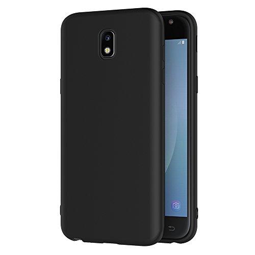AICEK Cover per Samsung Galaxy J3 2017, Cover Samsung J3 2017 Nero Silicone Case Molle di TPU Sottile Custodia per Galaxy J3 2017 (5,0 Pollici SM-J330F)