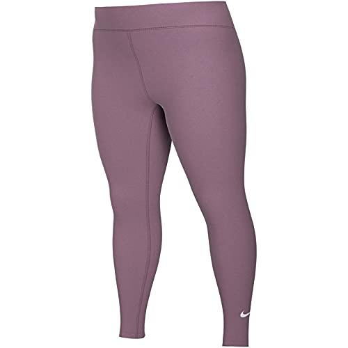 NIKE One Dri-Fit Damen-Leggings, Baumwolle, Violett M