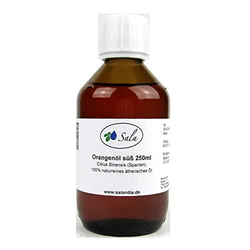 Sala Orangenöl Spanien ätherisches Öl süß kaltgepresst naturrein 250 ml Glasflasche
