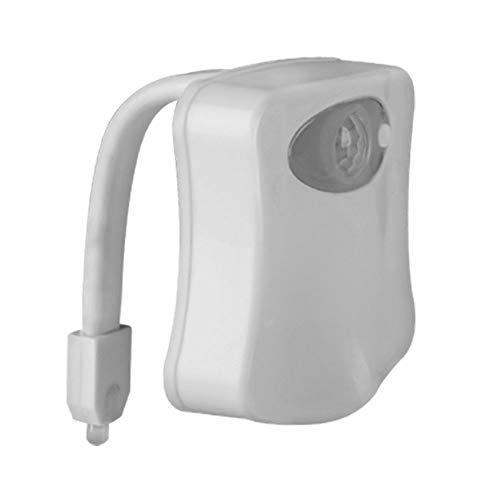WC, luce notturna PIR con sensore di movimento attivato, luce notturna a LED per bagno e bagno (8 colori, confezione da 1)