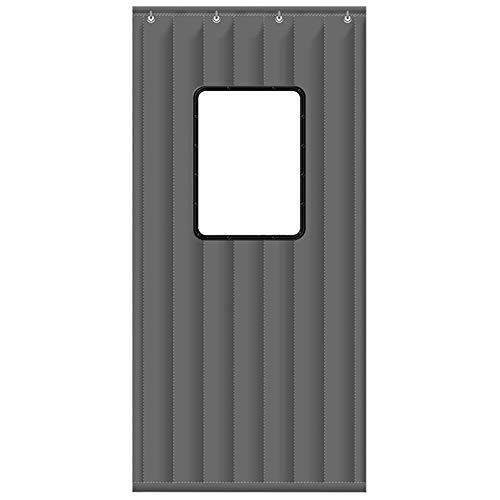 QIAOH Wärmeschutzvorhang Tür Magnet 110x210cm, Türvorhang Wärmeschutz Magnet, Thermo Türvorhang Magnetisch, Tenda In Cotone Con Protezione Contro Il Freddo