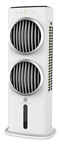 Macom Enjoy & Relax 988 Power Double Wind Potentissimo raffrescatore evaporativo con Doppia Ventola, Bianco, Flusso d'Aria: 28,6 m3/Minuto