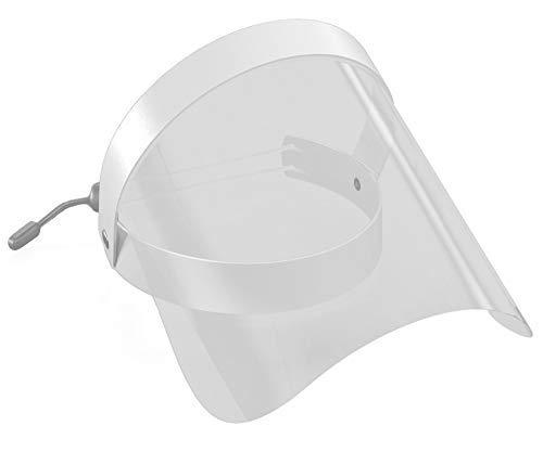 Sedax ® Schutzvisier als Gesichtsschutz - Optimierte Version - Größenverstellbar aus Kunststoff | Face Shield in Weiß | Gesichtsvisier für Arbeitsschutz & Medizin