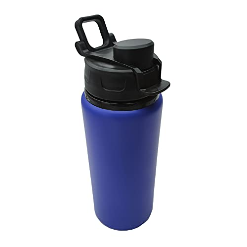 EUROXANTY Botella de Agua Deportiva | Botella para Gimnasio y Deportes | Resistente y con Cierre Hermético | Capacidad de 600 ml | Azul |