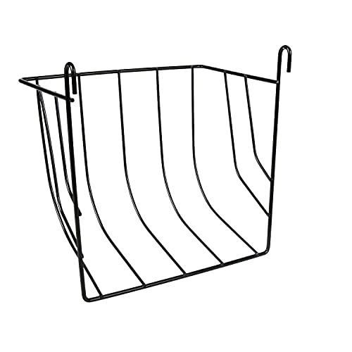 Trixie 60902 Heuraufe zum Einhängen, schwarz, 20 × 18 × 12 cm